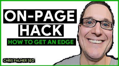 On-Page SEO Hack For ELITE Optimization