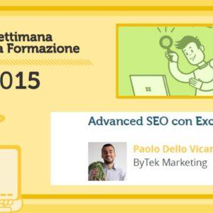 Advanced SEO con Excel - Paolo dello Vicario
