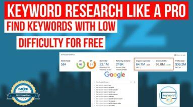 Keyword Research Tutorial - Advanced SEO Keyword Research
